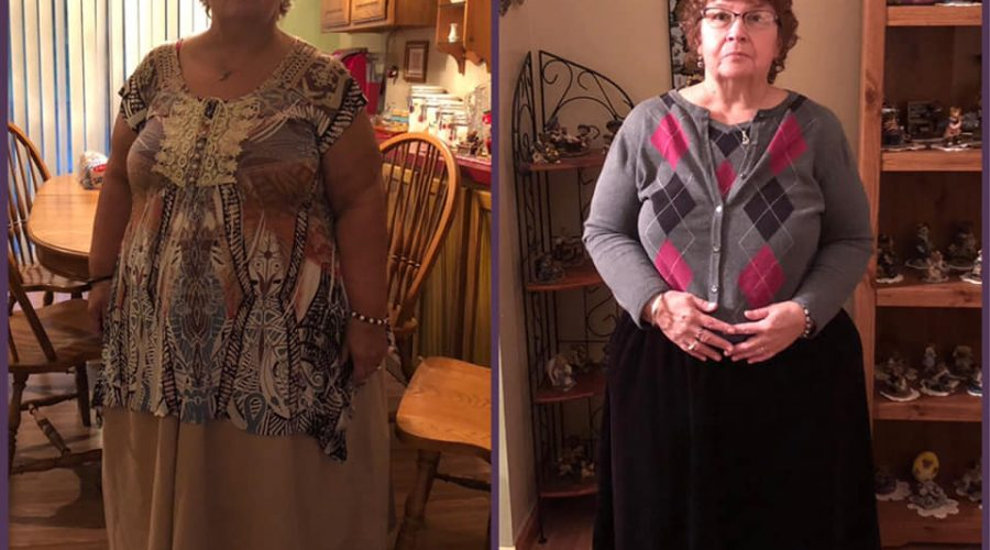 Linda is more than 40 pounds down, and giving God ALL the glory!
