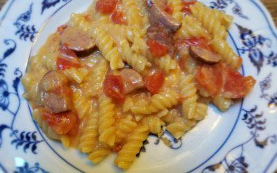 Cheesy Sausage Pasta