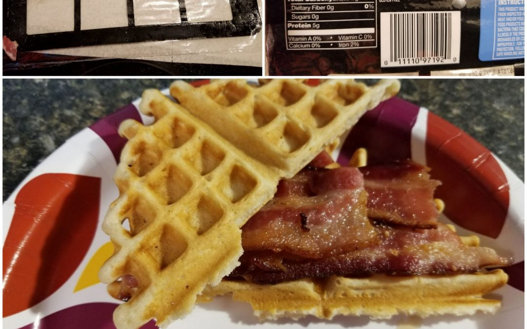 Bacon and Waffle Breakfast