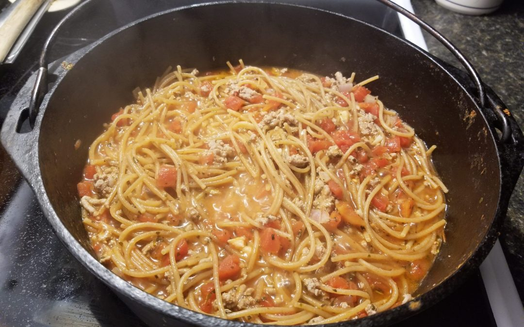 One Pot Skinny Spaghetti